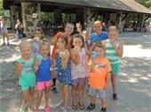 Participants enjoying ice cream at a picnic